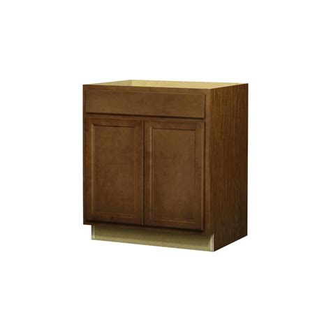 Lowes Kitchen Cabinet Doors Shop Kitchen Classics 35 In H X 30 In W X 24 In D Napa Saddle Door And Drawer Base Cabinet At