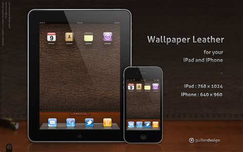 ipad iphone wallpaper leather  guillendesign  deviantart