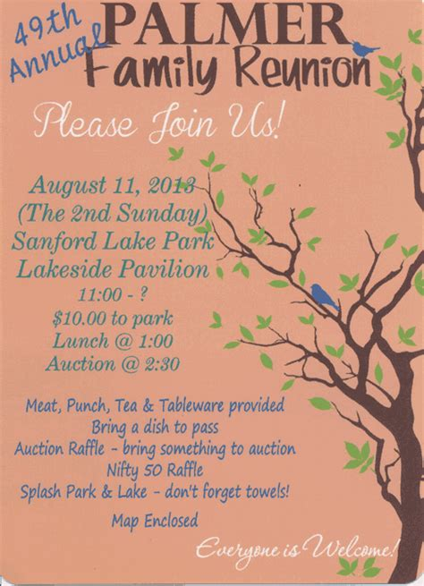 reunion invites family reunion invitations family