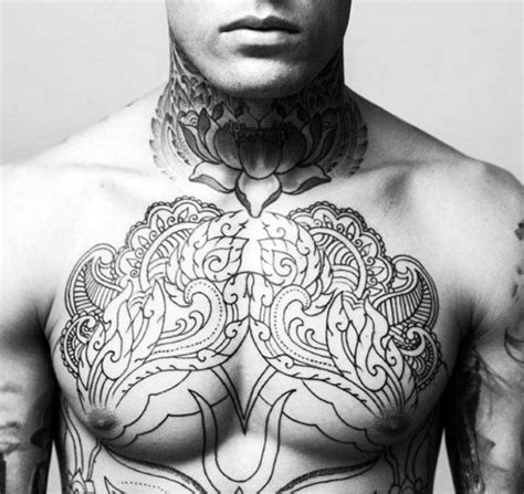 floral chest tattoo top 90 best chest tattoos for manly designs and ideas