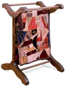 vintage quilt rack quilts