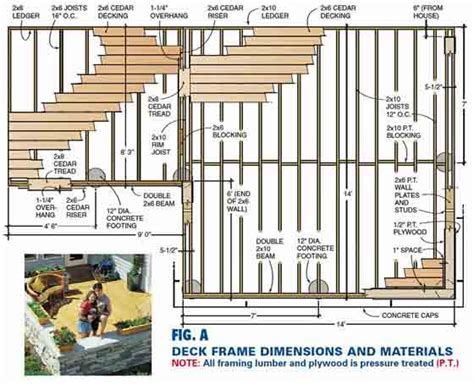 wood floor framing plan deck framing plans free deck design and ideas