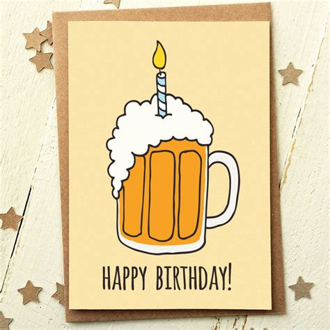 beer happy birthday images beer birthday card finch and the fallow