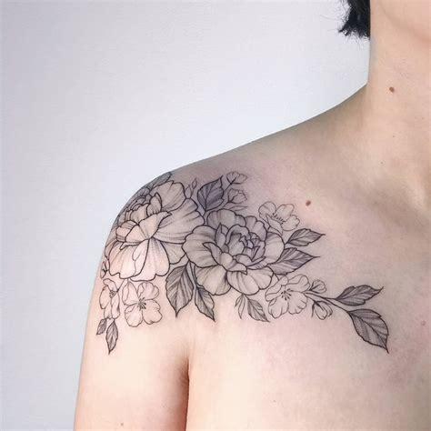 henna tattoo designs collarbone floral peonies roses collarbone ib tattooing