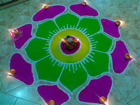 Diwali Decorations At Home Beautiful Diwali Rangoli Designs With Dot Pattern Free