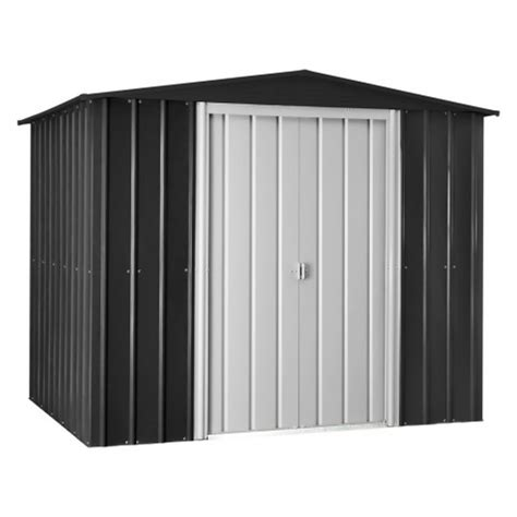 globel  gable roof metal storage shed anthracite gray gl