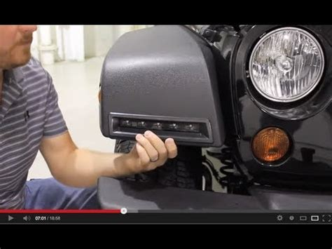 jeep wrangler running lights jeep wrangler led lights installation youtube