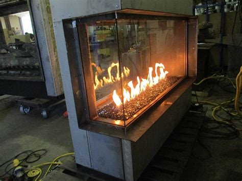 modern residential gas fireplaces 3 sided see through 4