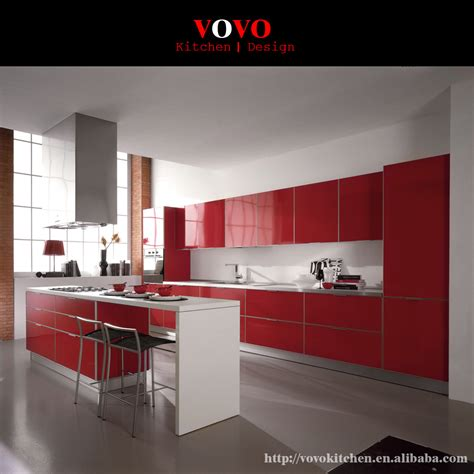 red kitchen furniture high gloss red integrated kitchen furniture with bar