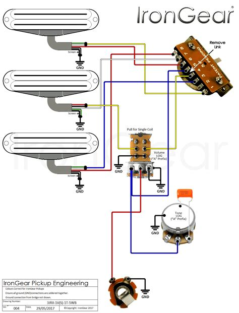 guitar wiring harness 3 way 2 humbuckers wiring diagram