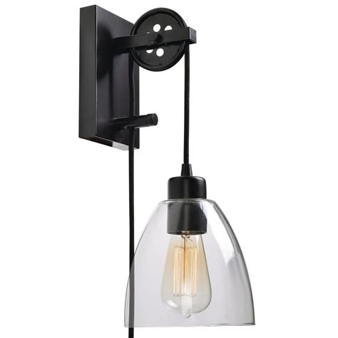 bathroom light pulley manor brook pulley 1 light oil rubbed bronze plug in wall