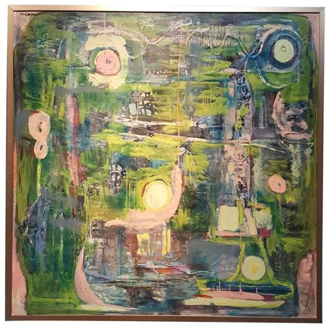 1960s Abstract Painting by Eve Garrison For Sale at 1stdibs