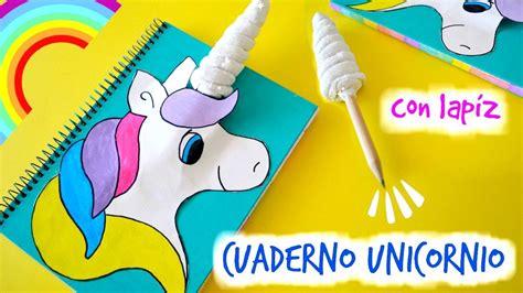 imagenes de unicornios hechos a lapiz diy cuaderno unicornio manualidad decora tus cuadernos