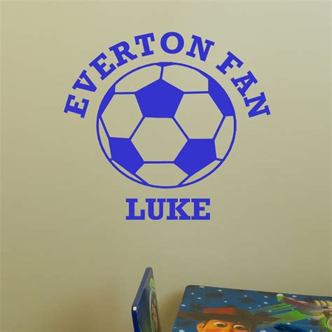 wall stickers with names football wall sticker with name and name of team