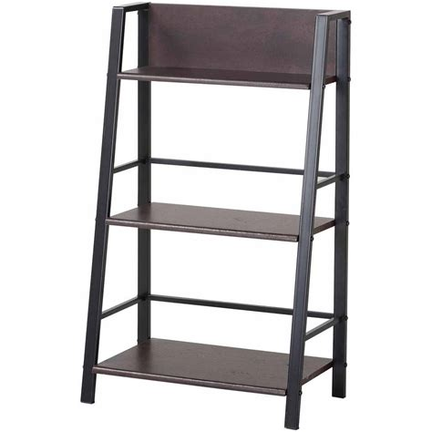 ladder 3 shelf bookcase storage bookshelf shelves