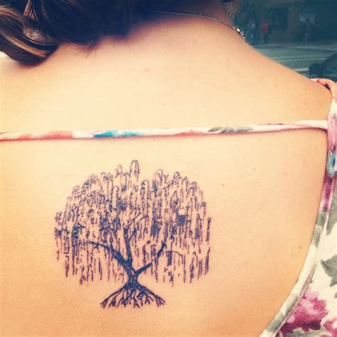 watercolor tattoos in pittsburgh my new weeping willow tree the sketch style