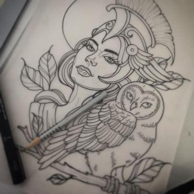 aphrodite tattoo for next week hopefully athena drawing sketch