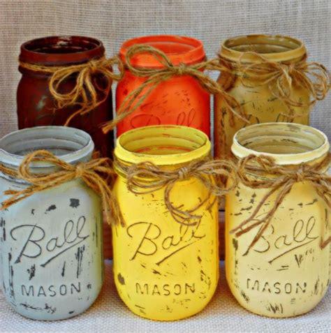 fall mason jar vases craft ideas pinterest