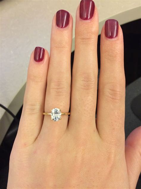 Dainty Engagement Ring Diana Engagement Ring Do by Show Me Your Oval Solitaire Weddingbee