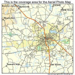 aerial photography map of carrollton ga