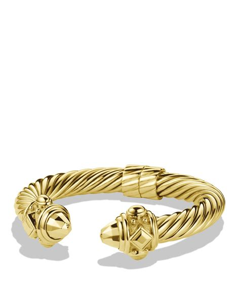 david yurman renaissance bracelet in gold in gold lyst