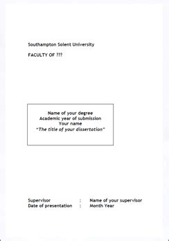 Dissertation proposals & writing dissertations: Title page