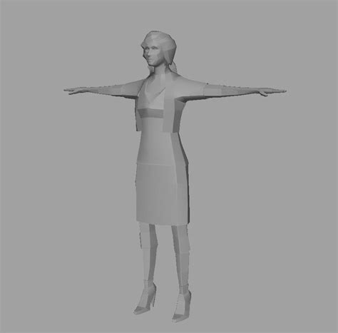 house paper rigged 3d model paper woman a 3d model rigged ma mb cgtrader com