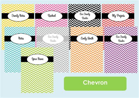 7 best images of printable chevron binder covers 2013
