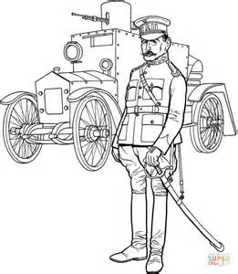 Ww1 General Officer And Tank Coloring Page Free The General Coloring Pages
