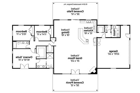 Ranch House Floor Plan by Ranch House Plans Anacortes 30 936 Associated Designs