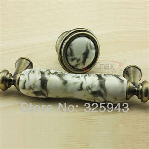 30mm european pastoral marble bronze ceramic knobs and
