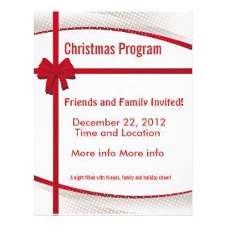 christmas program promotional flyers christmas program
