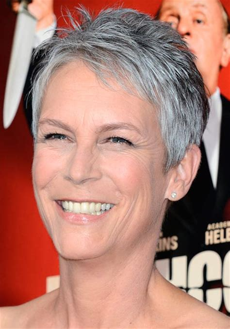 jamie lee curtis hairstyles tips stylish celebrity gray hairstyles beauty tips hair care