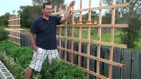 how to build a trellis building a trellis for our raised bed youtube