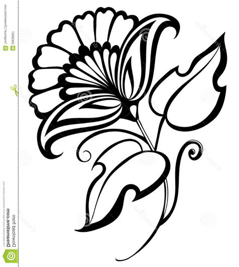 15 flower design images drawing