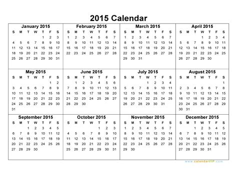 Blank Monthly Calendar Templates 2015