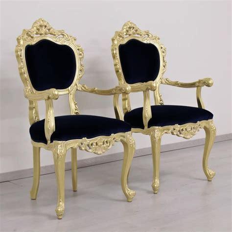 sedie classiche di lusso sedia classica di lusso con finiture foglia oro e tessuto