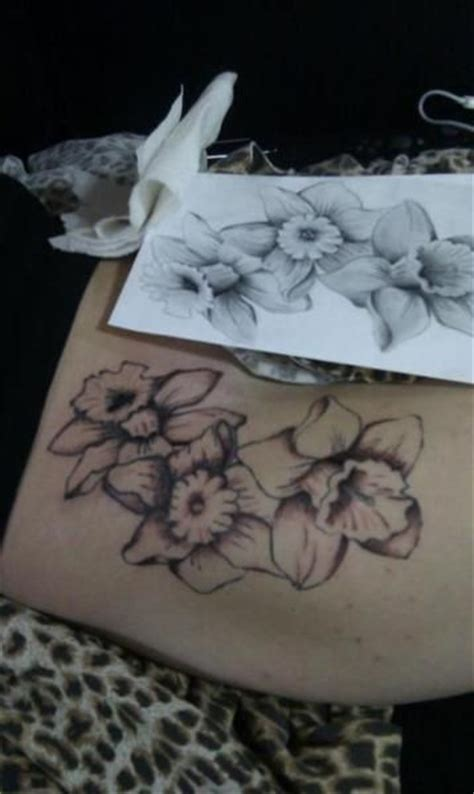 march birth flower tattoo daffodil tattoos tats daffodil