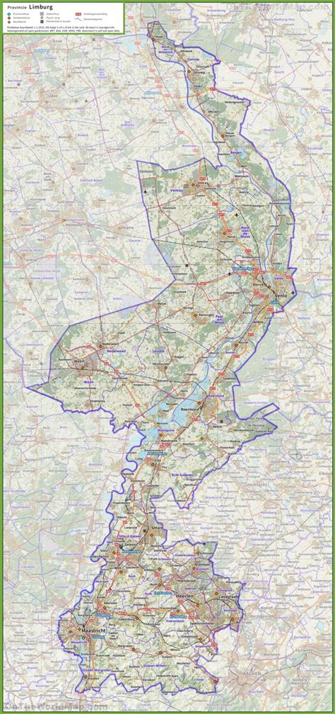 netherlands limburg map limburg road map
