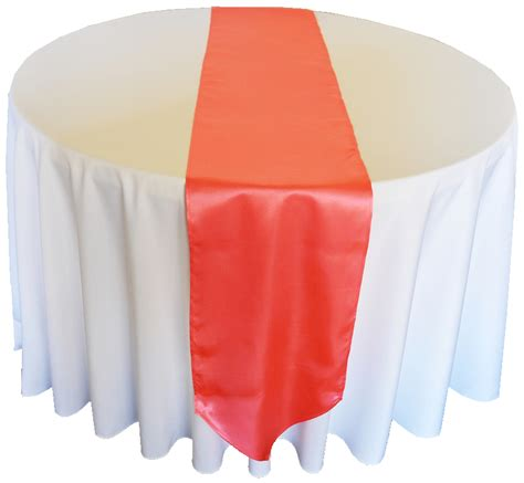 Coral Table Runners by Coral Satin Table Runners Sale