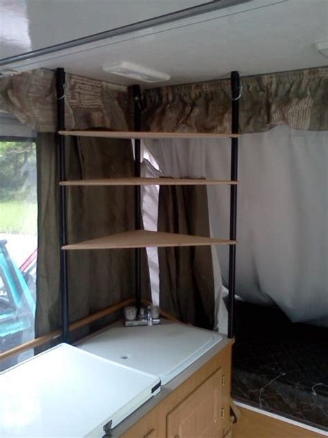 the sink corner shelves trailer