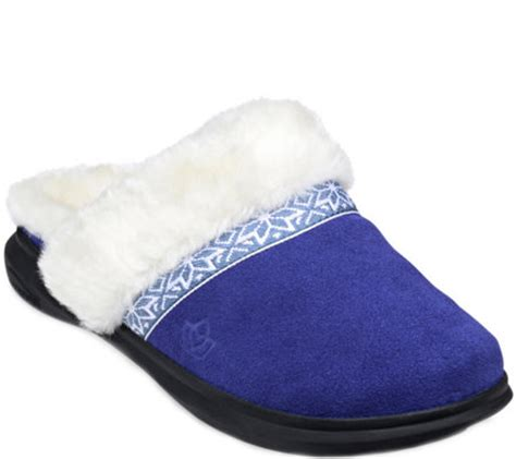 spenco slippers spenco slide orthotic suede slippers nordic qvc