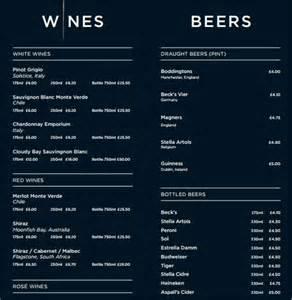 wedding drink menu template sle drink menu template 20 documents in psd