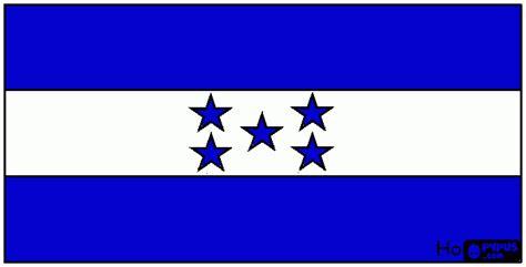honduras flag coloring page printable honduras flag