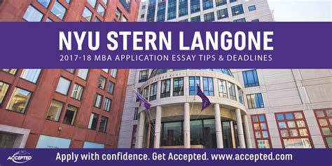 Nus Mba Essays 2017 by Nyu Langone Mba Essay Tips Deadlines The Gmat Club