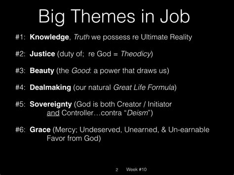 major themes book of job week 10 old i dealmaking a bible study based on the