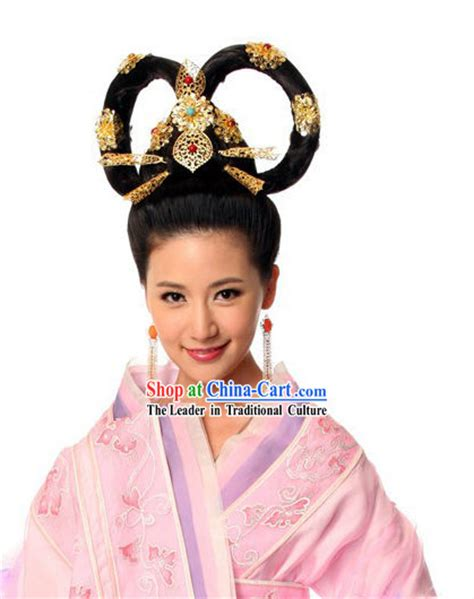 traditional chinese hair ancient chinese princess wig and hair accessories