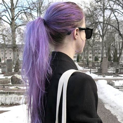 cute hairstyles for dyed hair purple hair color vpfashion