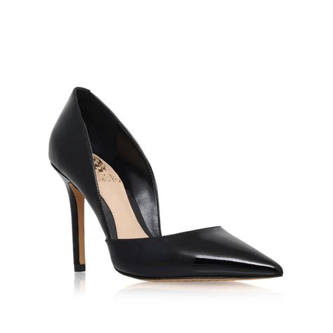 vince camuto high heels vince camuto rowin high heel court shoes in black lyst
