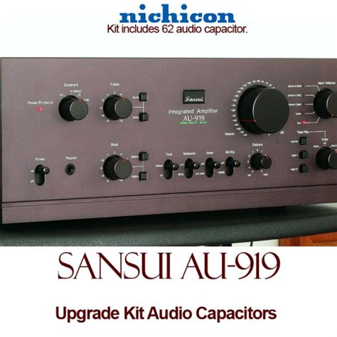 where are nichicon capacitors made sansui au 919 upgrade kit audio capacitors